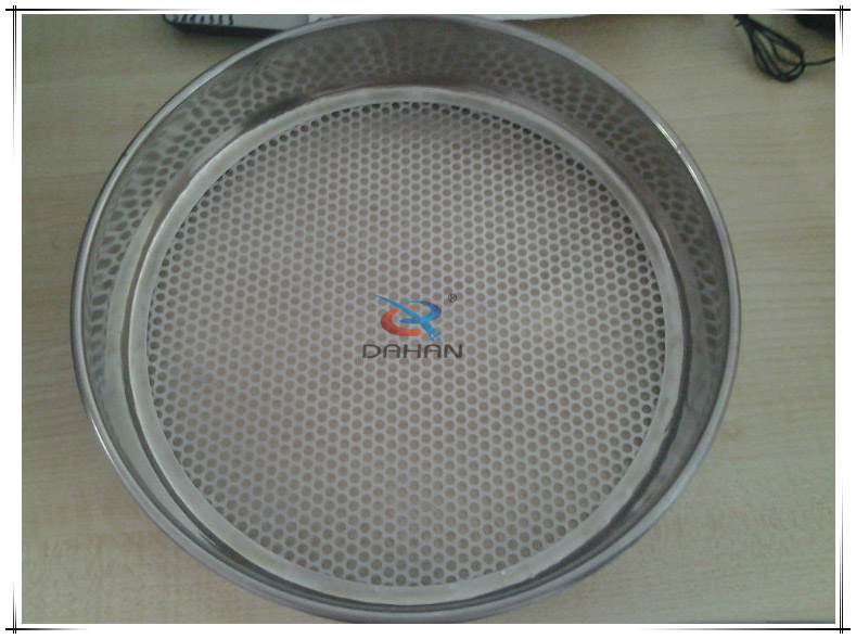 perforated plate test sieve frame